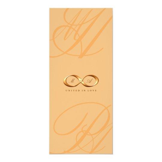 Bronze Love Infinity Hand Clasp Wedding Invite
