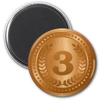 Bronze medal 3rd place winner magnet