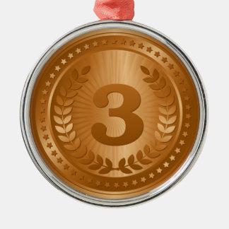 Bronze medal 3rd place winner metal ornament