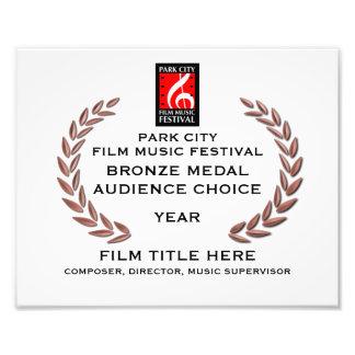 "Bronze Medal Certificate 10"" x 8"" Photo Print"