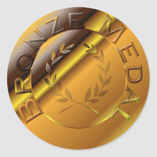 Bronze Medal Classic Round Sticker