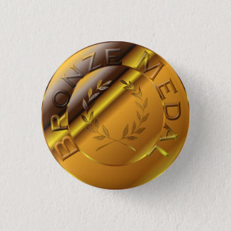 Bronze Medal Pinback Button