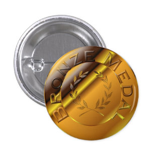 Bronze Medal Pinback Button