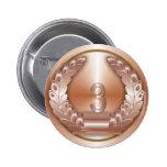 Bronze Medal Pinback Buttons