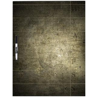 Bronze Metal Color Dry Erase Board Weekly Calendar