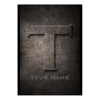 Bronze Metal Monogrammed T Business Card