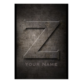 Bronze Metal Monogrammed Z Business Card