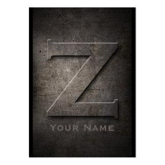 Bronze Metal Monogrammed Z Business Cards