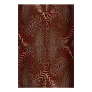 Bronze Metal on Red Optical Illusion Wall Art Lge