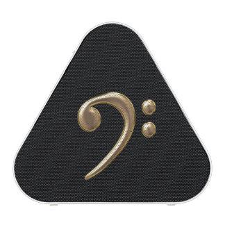 Bronze Metallic Bass Clef Bluetooth Speaker