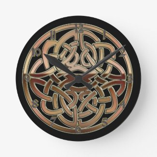Bronze Metallic Celtic Knot Wall Clock