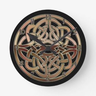 Bronze Metallic Celtic Knot Wall Clock
