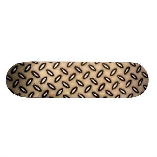 Bronze Metallic Patterned Skateboard