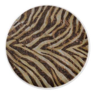 Bronze Metallic Zebra Ceramic Knob