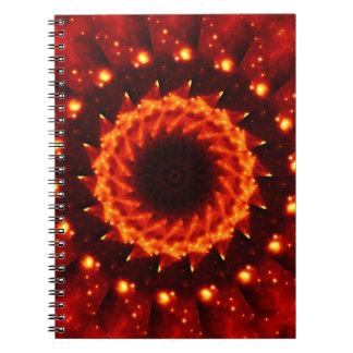 Bronze Nebula Kaleidoscope Mandala Notebooks