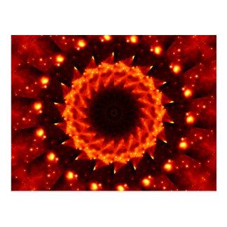 Bronze Nebula Kaleidoscope Mandala Postcard