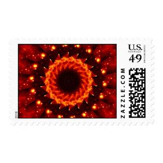 Bronze Nebula Kaleidoscope Mandala Stamps