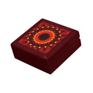 Bronze Nebula Kaleidoscope Mandala Trinket Boxes