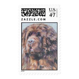 Bronze Newfoundland postage stamp