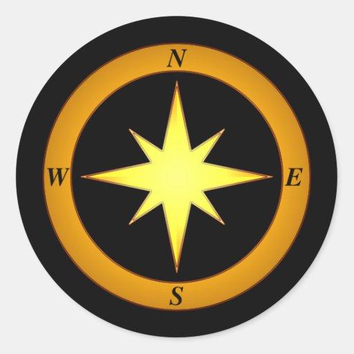 Bronze North Arrow Sticker