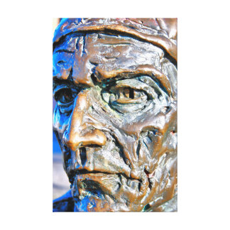 Bronze of John Cabot, Bristol Docks Canvas Print
