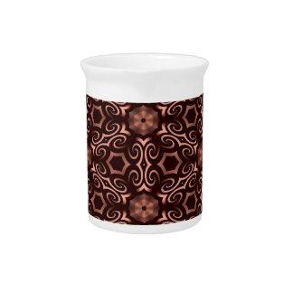 Bronze optical illusion beverage pitchers