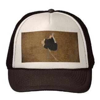 Bronze Ornate Ostrich Lid Trucker Hat
