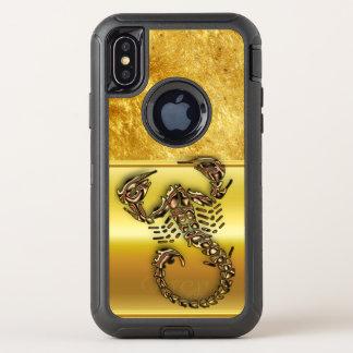 Bronze Poisonous scorpion very venomous insect OtterBox Defender iPhone X Case
