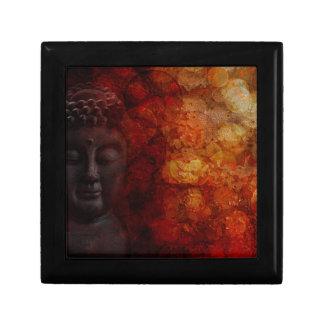 Bronze Red Zen Buddha Statue Meditating Front Gift Box