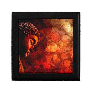 Bronze Red Zen Buddha Statue Meditating Jewelry Box
