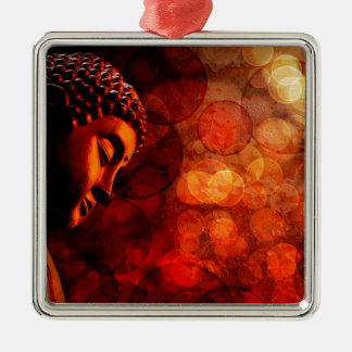 Bronze Red Zen Buddha Statue Meditating Metal Ornament