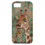 Bronze Rosa  Giraffes  Damask  iPhone Case iPhone 5 Case