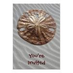 "Bronze Sand Dollar 5"" X 7"" Invitation Card"