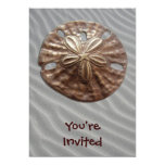 Bronze Sand Dollar Custom Invites