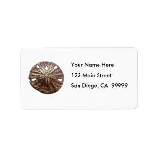 Bronze Sand Dollar Personalized Address Labels