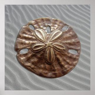 Bronze Sand Dollar Poster