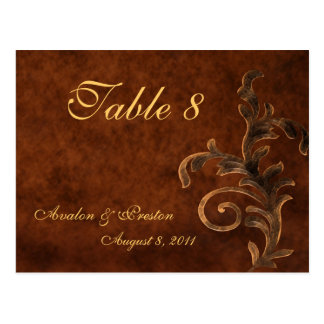 Bronze Scroll Leaf All Occasion Table Postcard