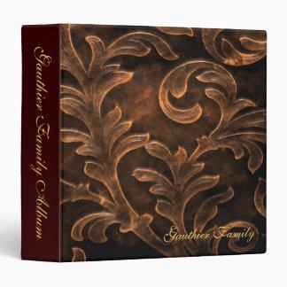 Bronze Scroll Leaf Big Family Album Binder