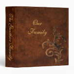 Bronze Scroll Leaf Family Album 3 Ring Binder