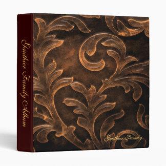 Bronze Scroll Leaf Family Album Binder