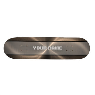 Bronze Shiny Stainless Steel Metal 2 Skateboard Deck