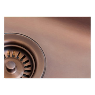 Bronze sink drain business cards