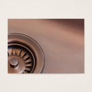 Bronze sink drain business card
