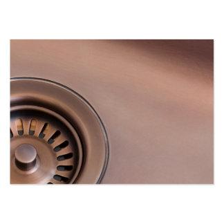 Bronze sink drain business cards