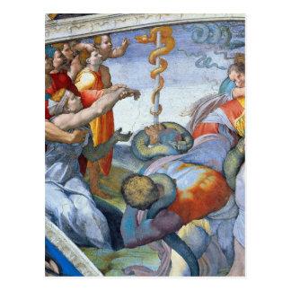 Bronze snake by Michelangelo Unterberger Postcard
