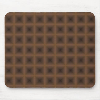 bronze square abstract design mouse pad