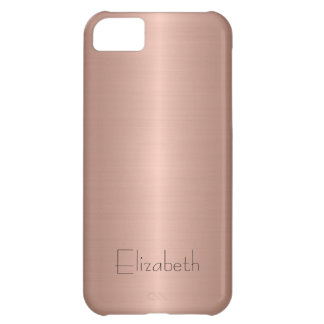Bronze Stainless Steel Metal Cover For iPhone 5C