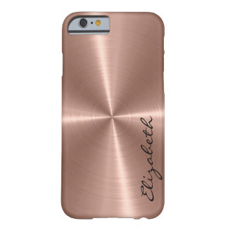 Bronze Stainless Steel Metal Look Barely There iPhone 6 Case