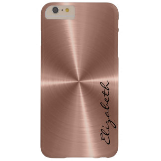 Bronze Stainless Steel Metal Look Barely There iPhone 6 Plus Case