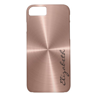 Bronze Stainless Steel Metal Look iPhone 7 Case